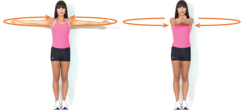 Shoulder movement through the 3 planes