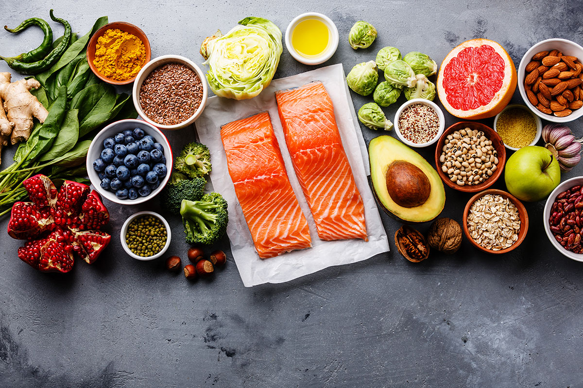 anti-inflammatory meats, avocados, blueberries, and nuts