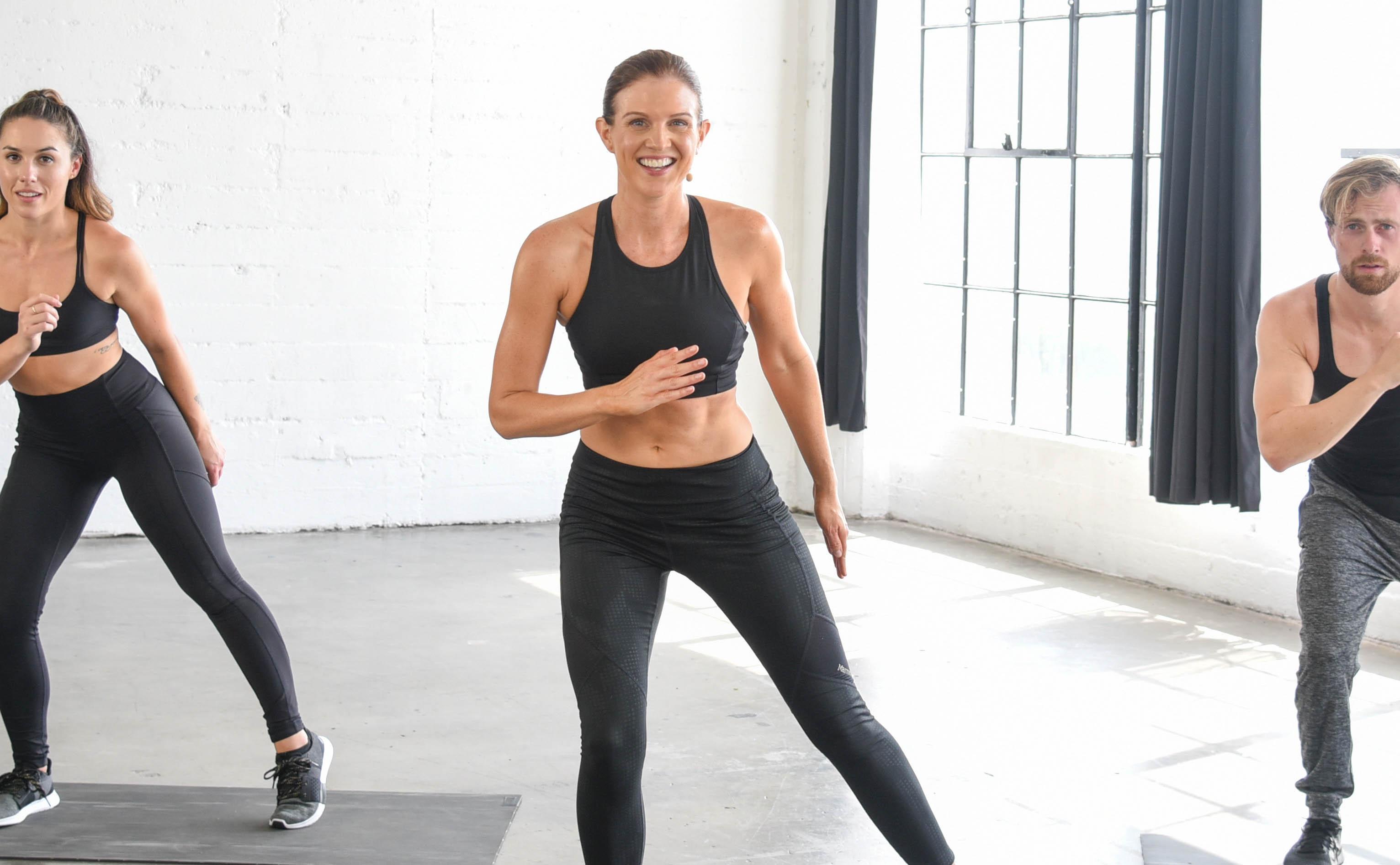 Kit Rich teaching pilates